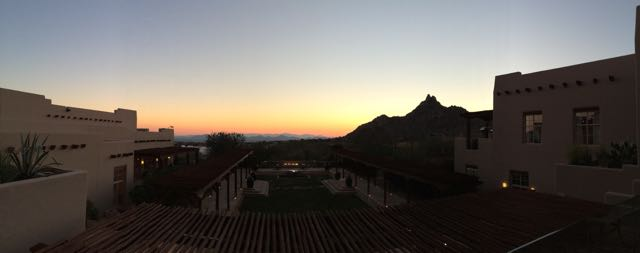 Panorama from the lobby deck
