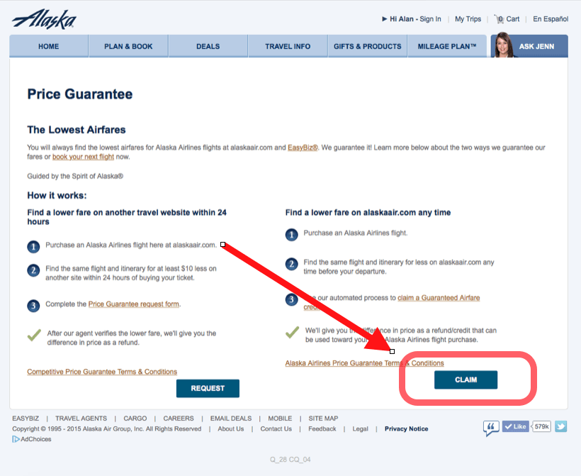 alaska airlines price guarantee