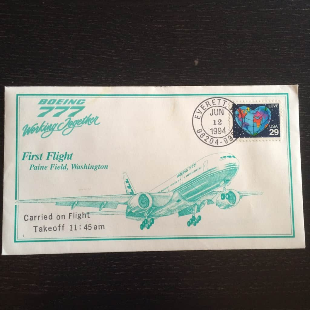 Postmarked envelope