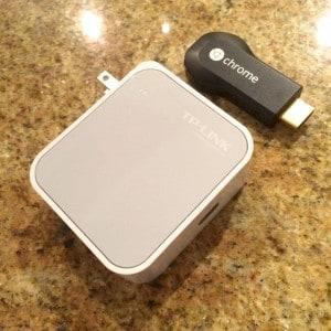 Chromecast + travel router