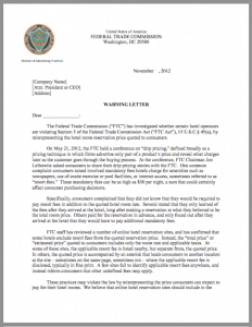FTC letter