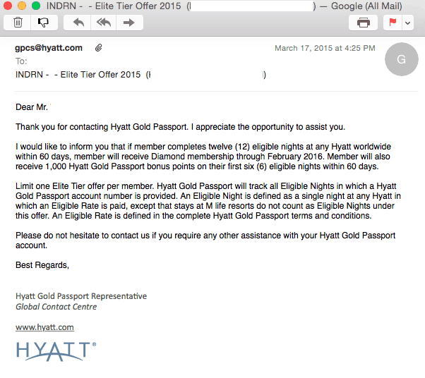 Hyatt Diamond Challenge