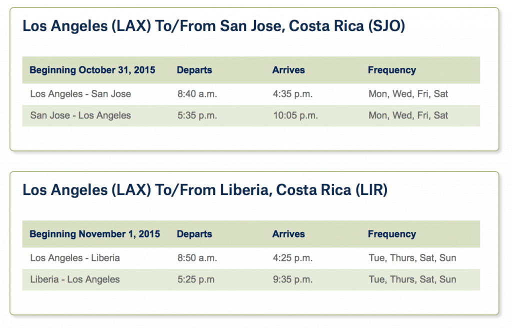 Costa Rica on Alaska Airlines