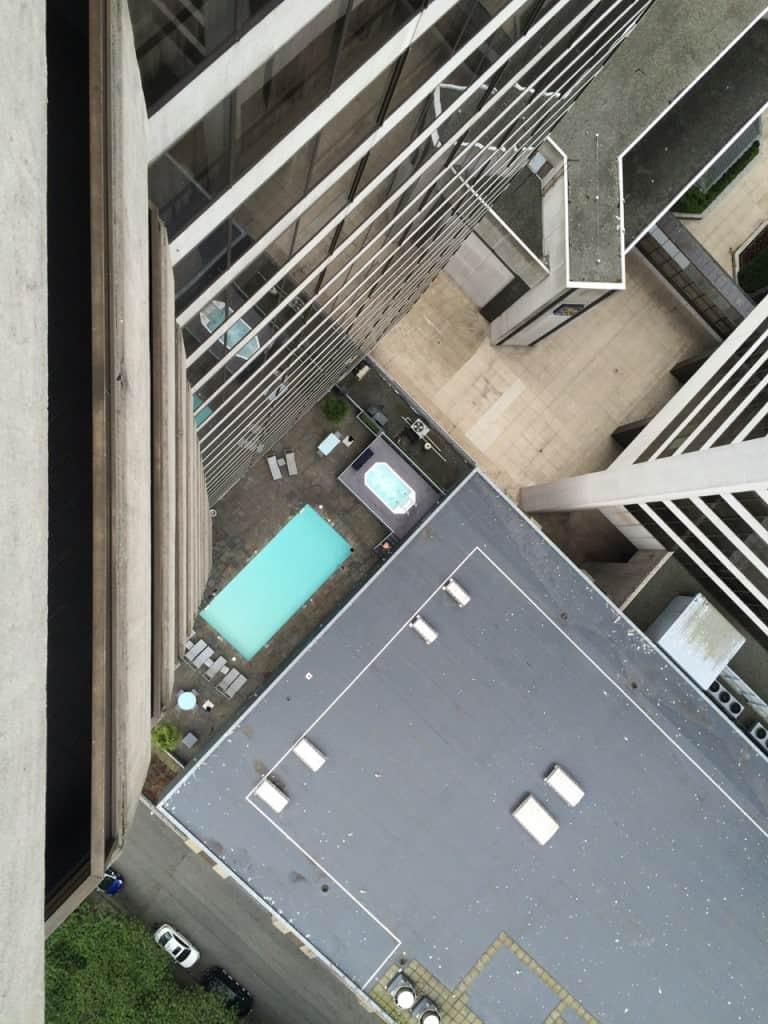 Pool as seen from the Regency Club balcony.