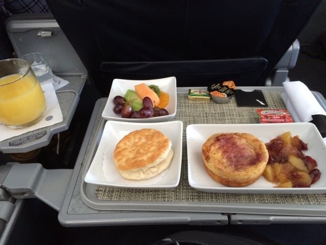 American Airlines Breakfast