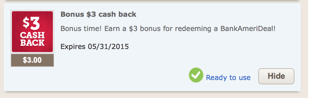 BankAmeriDeals Cash Back Offers