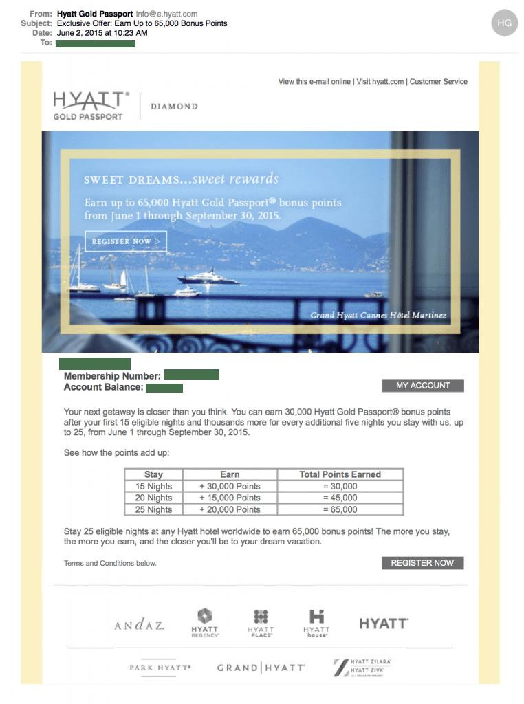 Hyatt Sweet Dreams Sweet Rewards