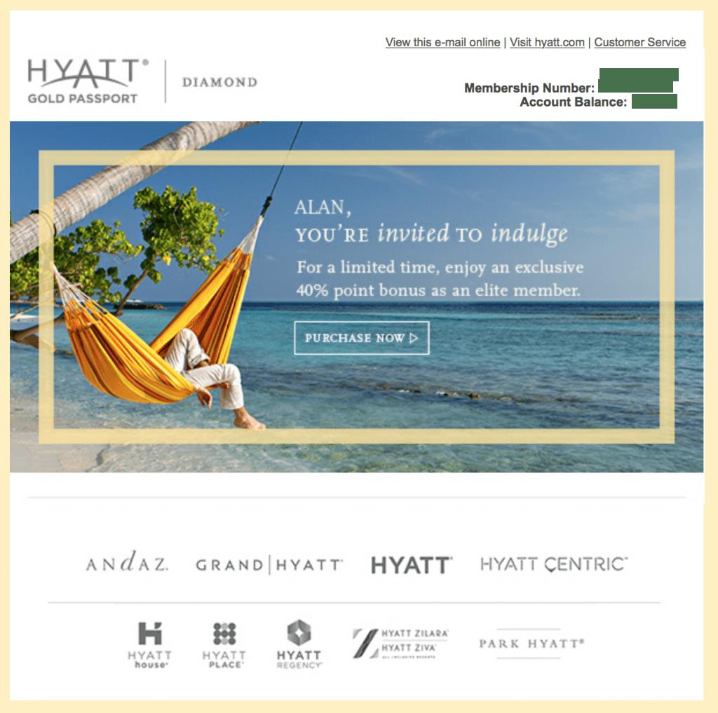 Hyatt Gold Passport Point Sale