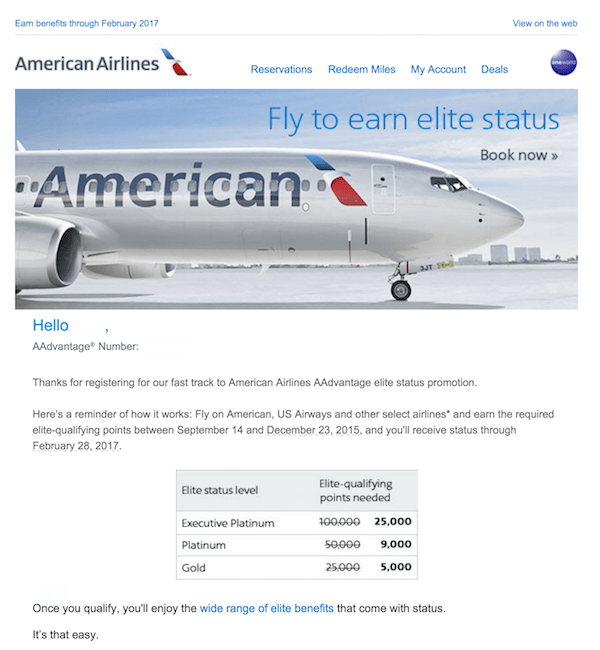 American Airlines Platinum Mileage Run
