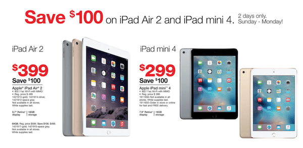 iPad Mini 4 for $269