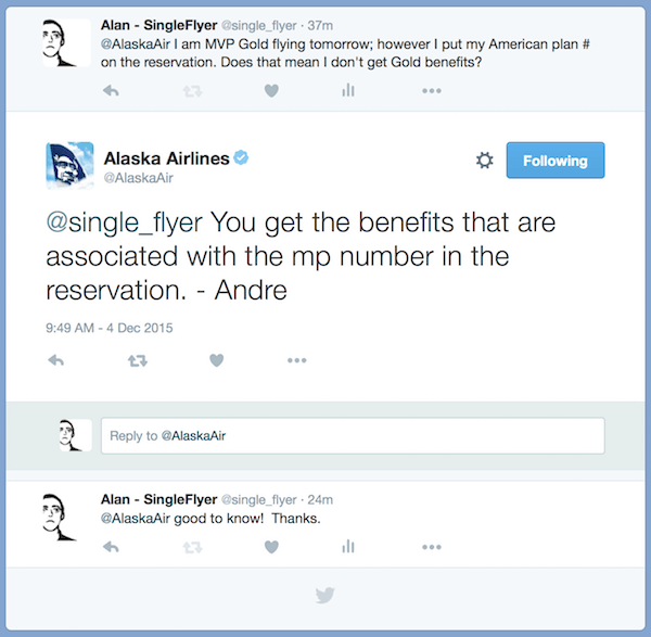 Alaska elite benefits when crediting miles to another airline