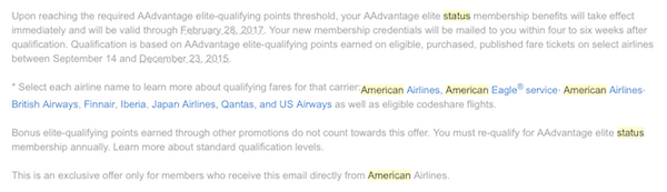 Problems achieving American Platinum status