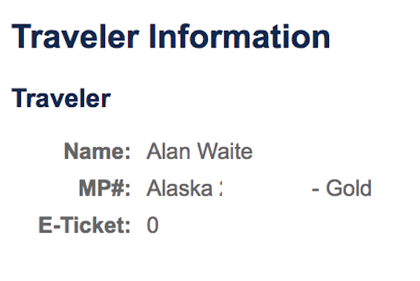 Alaska Mileage Plan status change not showing up
