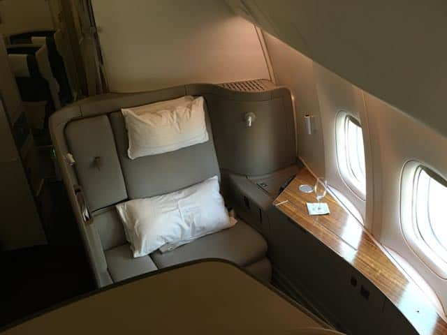 Cathay Pacific First Class Bangkok
