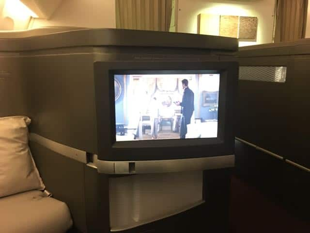 Cathay Pacific First Class BKK-HKG