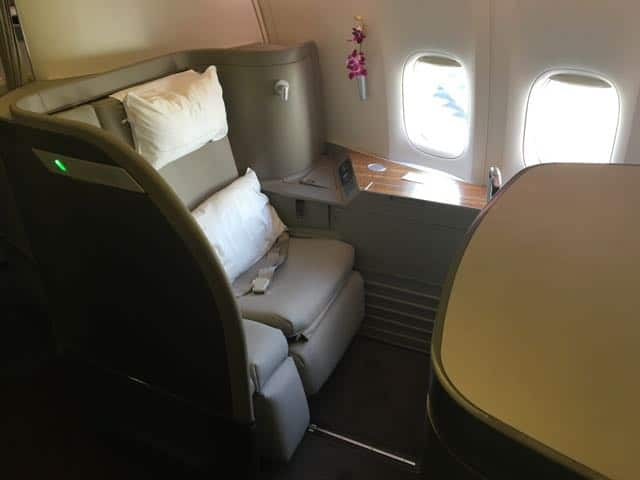 Cathay Pacific First Class Hong Kong to LAX