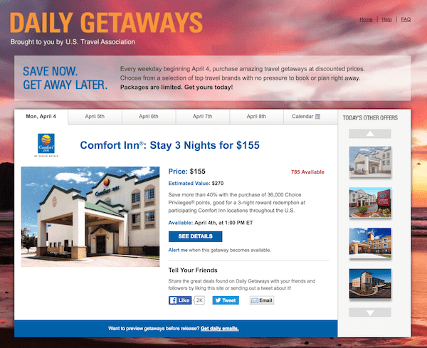 Daily Getaways 2016 Valuation