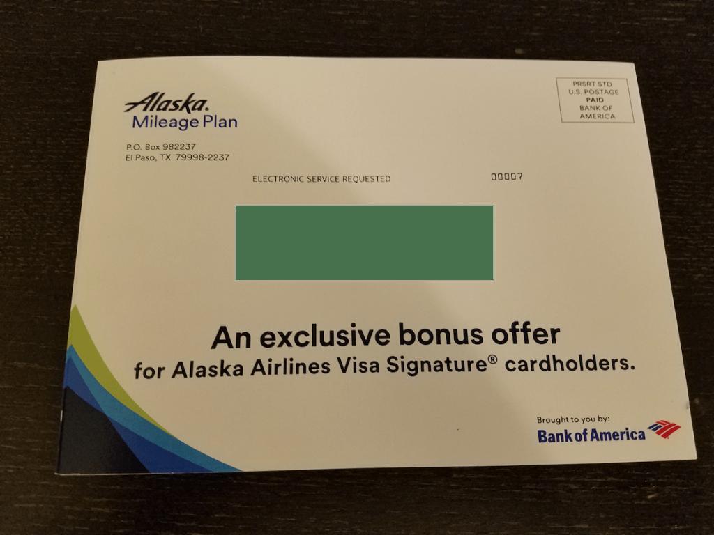 Alaska Airlines Visa flight discount bonus offer