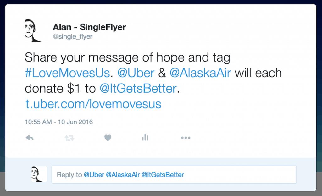 Alaska Airlines Uber Pride Contest