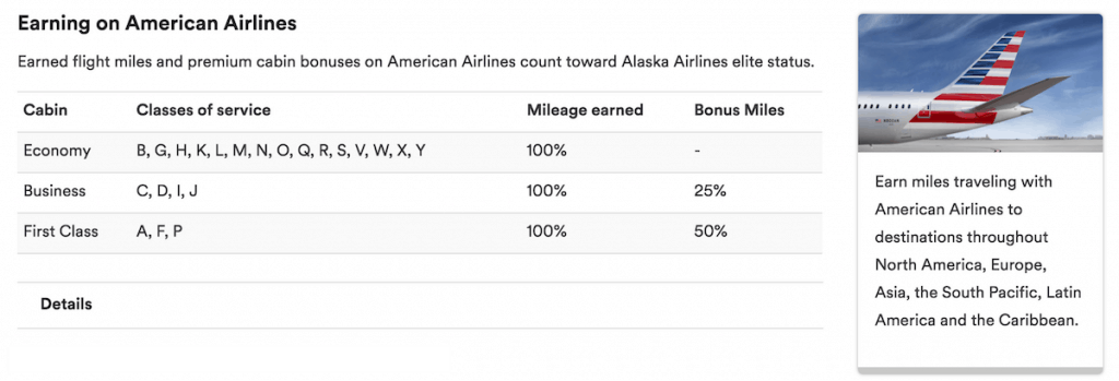 earning Alaska miles on American flights