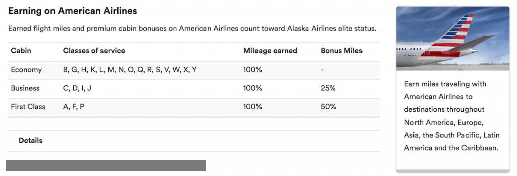 earning Alaska miles on American flights