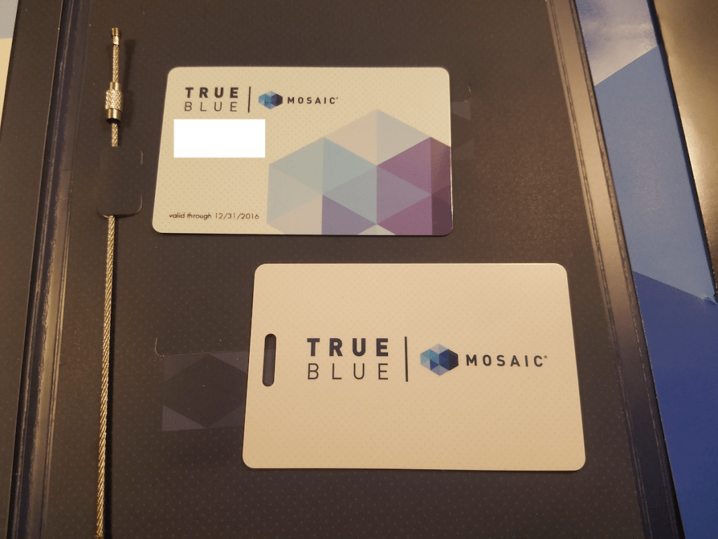 JetBlue TrueBlue Mosaic welcome kit