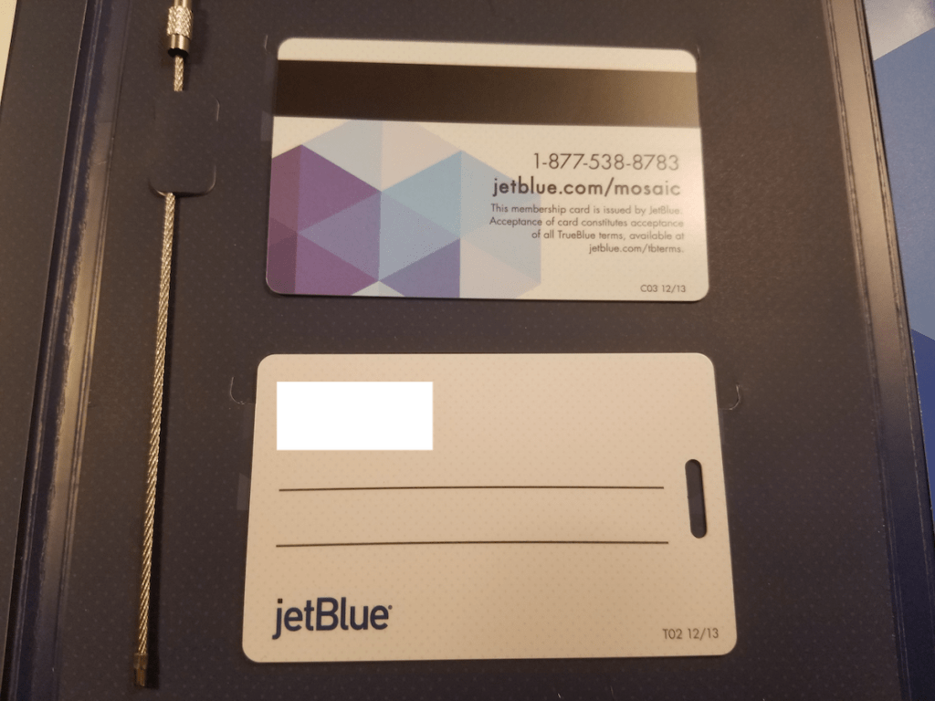 JetBlue TrueBlue Mosaic welcome kit