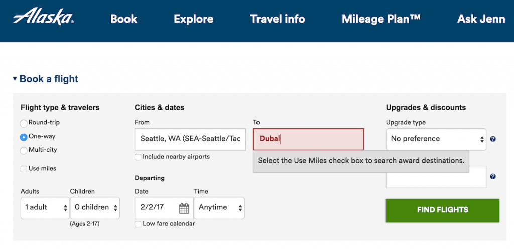 "9/10 times I forget to click ""Use Miles"""