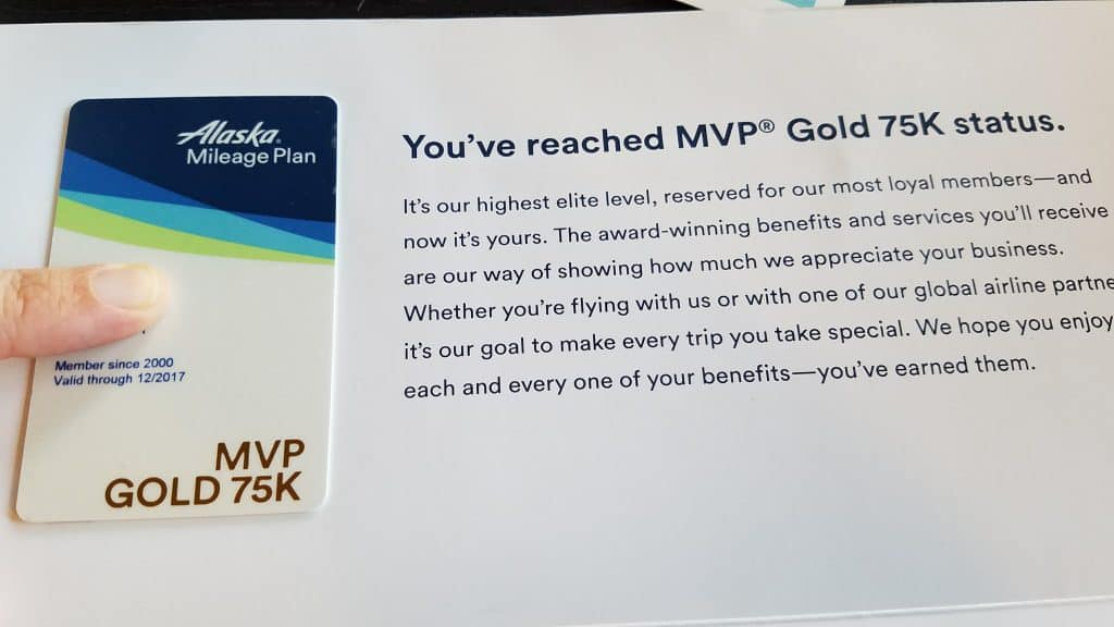 Alaska Airlines MVP Gold 75K