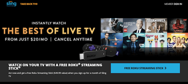 Roku Stick And Month Of Sling For 12 99 Singleflyer