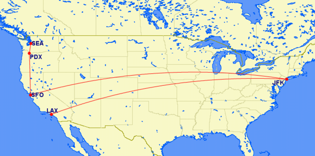Virgin America Mileage Run