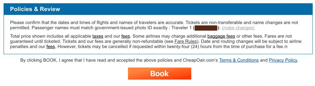 Cheapoair Cancelation Fee