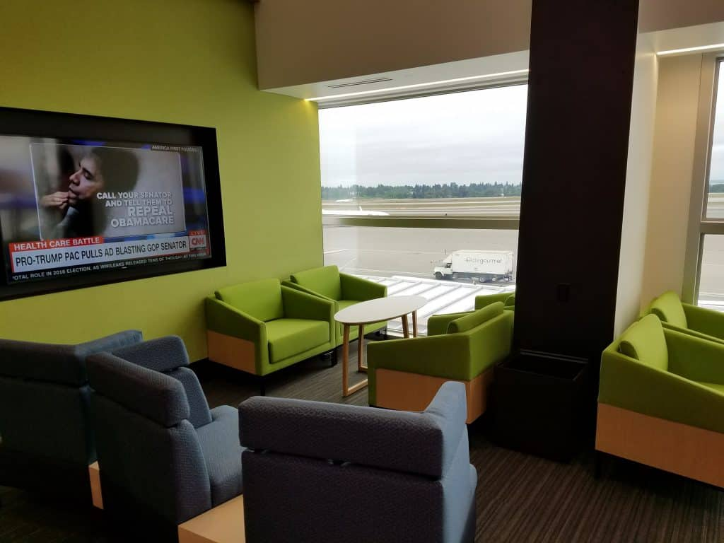 Alaska Lounge in Concourse C at Sea-Tac