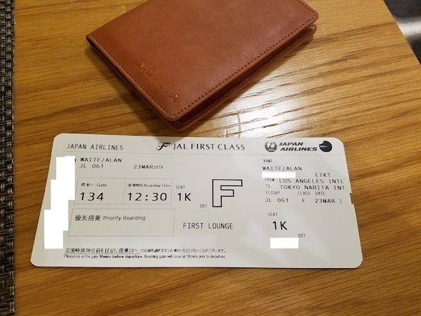 Japan Airlines First Class Lax Nrt Singleflyer