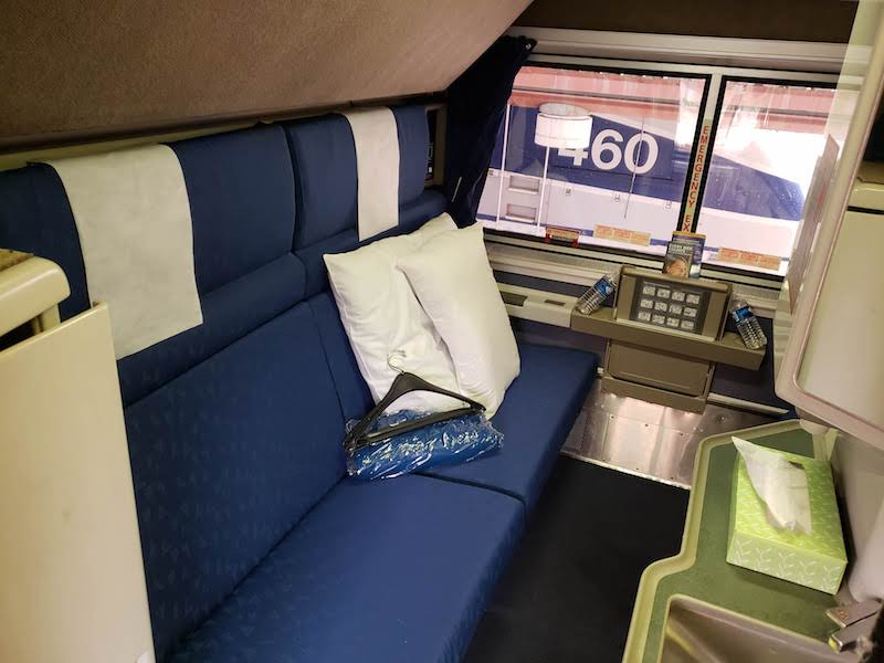 Amtrak Superliner Bedroom on Coast Starlight Review